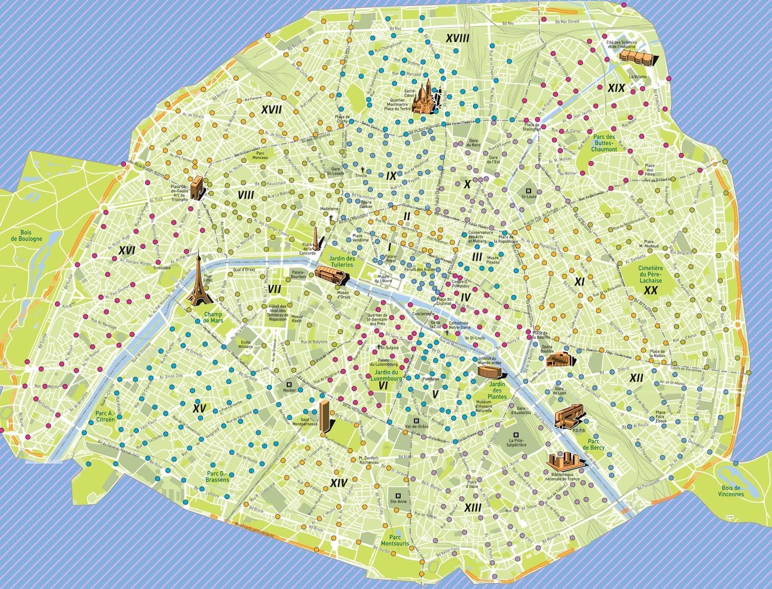 Infos sur carte velib arts et voyages for Carte paris touristique