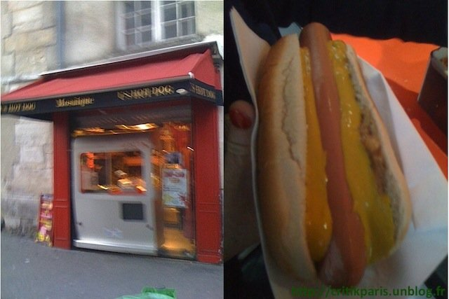 Critique : La Mosaïque, Paris. Hot dog à emporter. Marais. dans A emporter La-Mosaique-Hot-dog