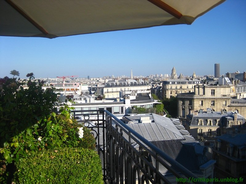 critique h tel raphael terrasse rooftop paris 16 avenue kleber critik paris. Black Bedroom Furniture Sets. Home Design Ideas