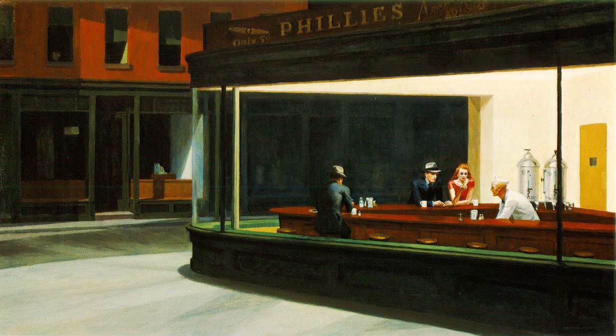 Exposition Hopper. Grand Palais à partir du 10 octobre. La culture de masse. dans Expositions hopper.nighthawks